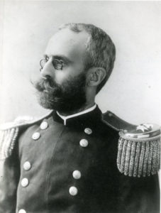 General Charles H. Taylor in dress uniform of a Colonel on the staff of Governor William E. Russell, circa 1890s